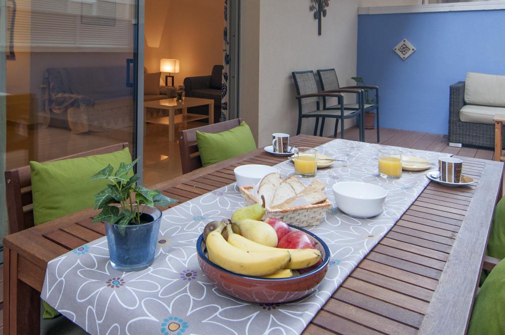Sitges apartment terrace